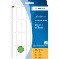 herma Multifunctionele Etiketten 2365 Groen 13 x 40 mm Rechthoekig 32 Vellen van 28 Etiketten