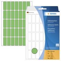 herma Multifunctionele Etiketten 2355 Groen 12 x 30 mm Rechthoekig 32 Vellen van 35 Etiketten