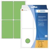 herma Multifunctionele Etiketten 2495 Groen 52 x 82 mm Rechthoekig 32 Vellen van 4 Etiketten