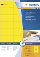 herma Etiketten SuperPrint 4408 Blauw Rechthoekig 2400 Etiketten per pak