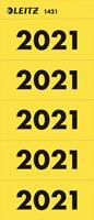 leitz Bene Etiketten Jaar 2021 Geel 60 x 25,5 mm 100 Stuks