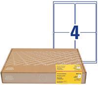 AVERY Zweckform 8017-300 Adresetiketten A4 Wit 99,1 x 139 mm 300 Vellen à 4 Etiketten