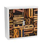 paperflow Roldeurkast Nummers en letters Kleurenassortiment 1.100 x 415 x 1.040 mm