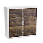 paperflow Roldeurkast Hout Bruin, wit 1.100 x 415 x 1.040 mm Hout