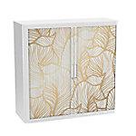 paperflow Roldeurkast Gouden blad Goud, wit 1.100 x 415 x 1.040 mm