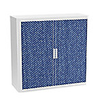 paperflow Roldeurkast Jean Blauw, wit 1.100 x 415 x 1.040 mm
