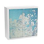 paperflow Roldeurkast Continent Blauw, wit 1.100 x 415 x 1.040 mm