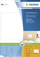 herma Adres Etiketten 8691 Wit Vierkant A5 148 x 105 mm 400 Vellen van 2 Etiketten