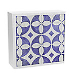 paperflow Roldeurkast Faience Blauw, wit 1.100 x 415 x 1.040 mm