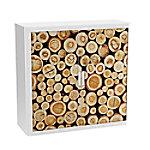 paperflow Roldeurkast Stammen Bruin, wit 1.100 x 415 x 1.040 mm