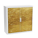 paperflow Roldeurkast Goud Goud, wit 1.100 x 415 x 1.040 mm