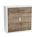 paperflow Roldeurkast Hout Bruin, wit 1.100 x 415 x 1.040 mm Timmerhout