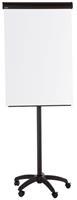 bi-office Vrijstaande Frameloze mobiele Magnetische Flipover in hoogte verstelbaar EA4806125 75 x 200 cm Wit