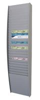 paperflow Wandfolderhouder A4 273 x 106 x 1120 mm Grijs