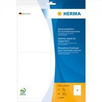herma Adresetiketten 4444 Wit 105 x 144 mm 20 Vellen à 4 Etiketten