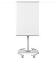 bi-office Vrijstaande Draaibare Mobiele Flipover in hoogte verstelbaar EA4806146 70 X 100 cm Wit