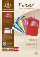exacompta Venstermappen Forever A4 Kleurenassortiment Gerecycled papier 22 x 31 cm 25 Stuks