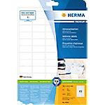 herma Adres Etiketten 4504 Wit Rechthoekig 38,1 x 21,2 mm 25 Vellen van 65 Etiketten