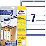 AVERY Zweckform Ordner Etiketten LR4760-25 Ultragrip A4 38 x 192 mm 30 Vellen à 7 Etiketten