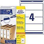 AVERY Zweckform Ordner Etiketten LR4761-25 Ultragrip A4 192 x 61 mm 30 Vellen à 4 Etiketten