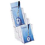 helit Documenthouder Table Folder Stand C5/6 Transparant Plastic 11,5 x 15 x 25,5 cm