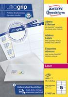 AVERY Zweckform Adresetiketten & Verzendetiketten L7636-25 Ultragrip Wit 45,7 x 21,2 mm 25 Vellen à 48 Etiketten
