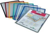 durable 560600 Zichtpaneel Zwart, rood, geel, groen, lila A4 Polypropyleen, Kunststof 5 Stuks