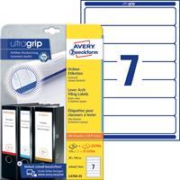 avery Zweckform Ordnerrugetiketten L6060-25 Ultragrip A4 Wit 30 Vellen à 8 Etiketten 3,4 x 19 cm