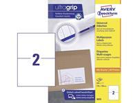 Avery Zweckform 3655 3655 ( 210 x 148 mm ),Wit, 200 stuk(s), Permanent