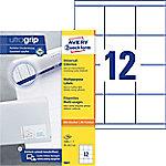 AVERY Zweckform Multifunctionele Etiketten 3661 Ultragrip Wit A4 70 x 67,7 mm 100 Vellen à 12 Etiketten