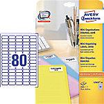 AVERY Zweckform L7632-25 Adresetiketten & Verzendetiketten Wit 35,6 x 16,9 mm 25 Vellen à 80 Etiketten