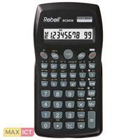 Rebell Rebell SC2030. Vormfactor: Pocket, Soort: Wetenschappelijke rekenmachine. Cijfers: 10 cijfers, Tekstregels: 1 regels. Stroombron: Batterij/Accu. Kleur van het product: Zwart