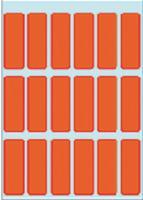 Etiket herma 3652 12 x 34 mm rood 90 st