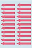 Etiket herma 4143 pijl 38 x 7m m rood 88 st