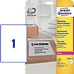 averyzweckform AVERY Zweckform L7997-25 Weervaste etiketten A4 Wit 199,6 x 289,1 mm 25 Vellen à 1 Etiket