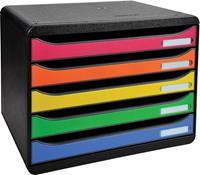 Exacompta ladenblok Big-Box Plus, horizontaal, zwart/harlekijn