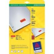 Avery L6036-20 Rood Zelfklevend printerlabel printeretiket
