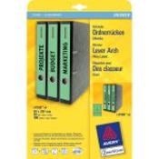 Avery Border Binder Labels, Green 38 x 297mm (20)