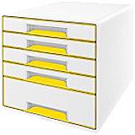Leitz WOW Cube Ladenkastje Duokleur met 5 laden A4 Wit, Geel 28,7 x 27 x 36,3 cm
