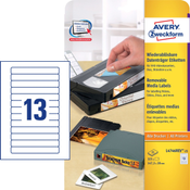Avery L4746REV-25 Wit Zelfklevend printerlabel printeretiket