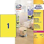 averyzweckform AVERY Zweckform L6006-25 Attention Etiketten 210 x 297 mm Rechthoekig Neon Geel 25 Vellen van 1 Etiketten