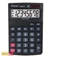 Rebell Panther 8 calculator Desktop Basisrekenmachine Zwart