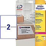 averyzweckform AVERY Zweckform L7996-25 Weervaste etiketten A4 Wit 199,6 x 143,5 mm 25 Vellen à 2 Etiketten