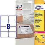 averyzweckform AVERY Zweckform L7993-25 Weervaste etiketten A4 Wit 99,1 x 67,7 mm 25 Vellen à 8 Etiketten