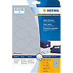 HERMA Zilver Etiketten 4116 Ovaal A4 58,4 x 42,3 mm 25 Vellen van 18 Etiketten