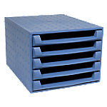 Exacompta Ladenkastje 5 lades The Box 221101D Polypropyleen Kobaltblauw 28,4 x 38,7 x 21,8 cm