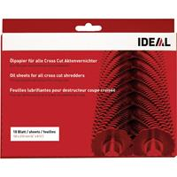 ideal 9000631 Oliepapier voor papierversnipperaar 18 vellen