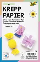 Folia Paper Crepepapier Folia 50x200cm Mix 10kleuren