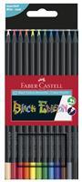 Faber-Castell Buntstifte Black Edition 12er Kartonetui