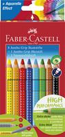Faber-Castell Buntstift Jumbo Grip Promotionetui 8+1+1